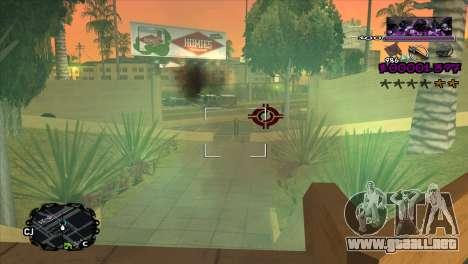 Ballas C-HUD para GTA San Andreas tercera pantalla