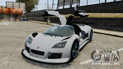 Gumpert Apollo S 2011 para GTA 4 vista superior