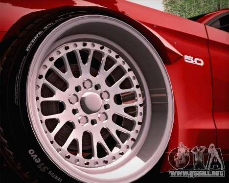 Ford Mustang Rocket Bunny 2015 para la vista superior GTA San Andreas