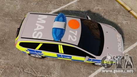 Ford Focus Estate 2009 Police England [ELS] para GTA 4 visión correcta