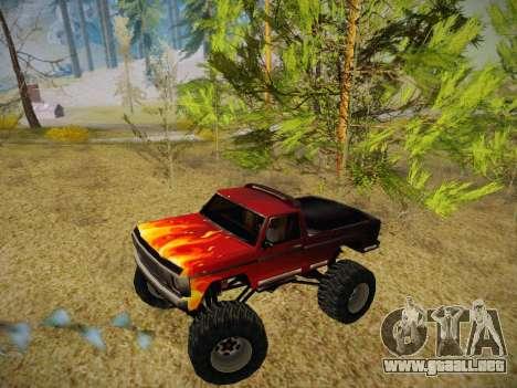 Nuevas texturas para la Monster (A) para GTA San Andreas