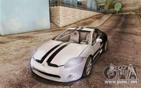 Mitsubishi Eclipse GT v2 para visión interna GTA San Andreas