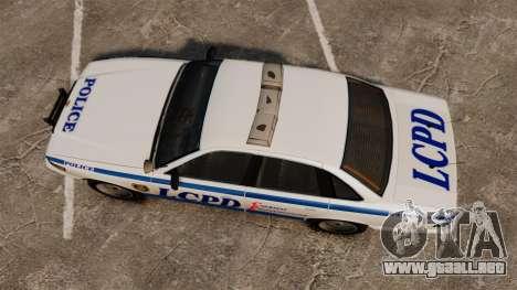Vapid Police Cruiser v2.0 para GTA 4 visión correcta