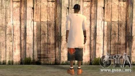 Rapero Rand para GTA San Andreas segunda pantalla