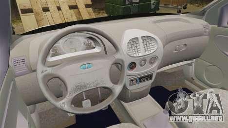 1119 VAZ Lada Kalina para GTA 4 vista hacia atrás