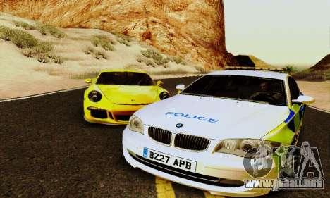 BMW 120i SE Police para GTA San Andreas vista posterior izquierda