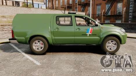 Toyota Hilux Land Forces France [ELS] para GTA 4 left