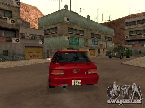 Subaru Impreza Wagon para la visión correcta GTA San Andreas