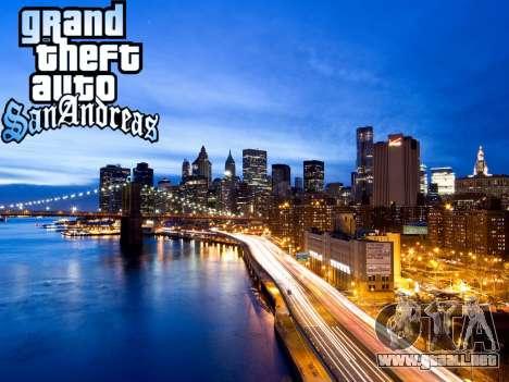 Loadscreens New-York para GTA San Andreas sucesivamente de pantalla