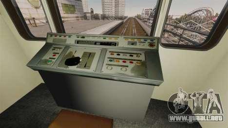 El director del Metro del carro modelo 81-717 para GTA 4 tercera pantalla