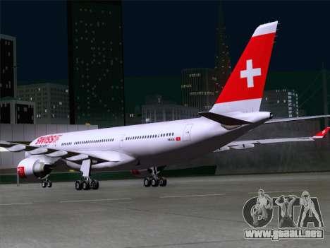 Airbus A330-223 Swiss International Airlines para la visión correcta GTA San Andreas