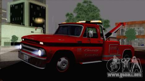Chevrolet C20 Towtruck 1966 1.01 para GTA San Andreas left