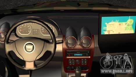 Dacia Duster Army Skin 2 para la visión correcta GTA San Andreas