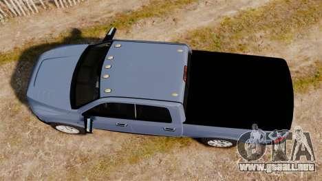 Dodge Ram 2010 para GTA 4 visión correcta