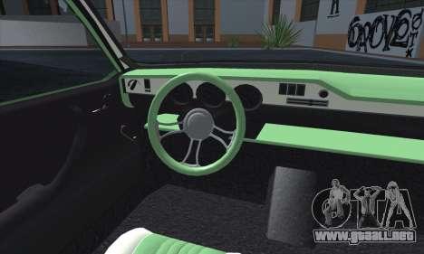 Dacia 1300 Retro Art para visión interna GTA San Andreas
