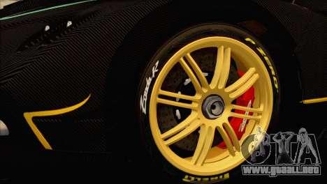 Pagani Zonda R SPS v3.0 Final para la visión correcta GTA San Andreas