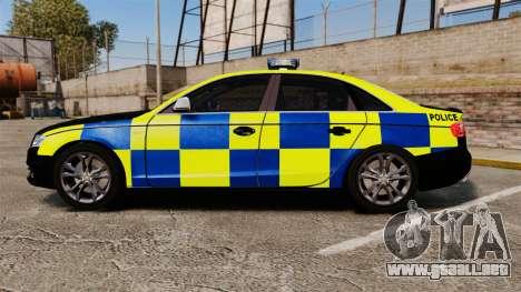 Audi S4 Police [ELS] para GTA 4 left