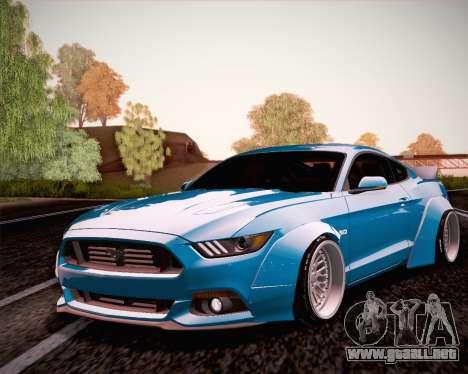 Ford Mustang Rocket Bunny 2015 para GTA San Andreas vista hacia atrás