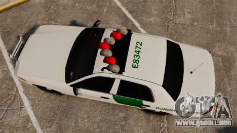 Ford Crown Victoria 1999 U.S. Border Patrol para GTA 4 visión correcta