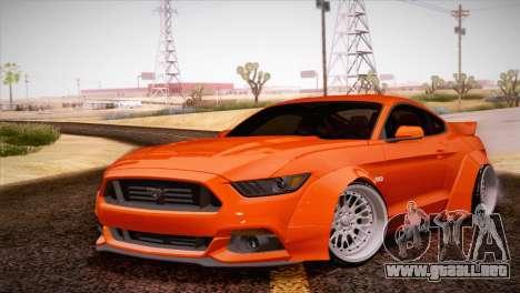 Ford Mustang Rocket Bunny 2015 para GTA San Andreas left