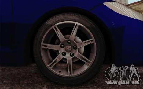 Mitsubishi Eclipse GT v2 para GTA San Andreas vista posterior izquierda