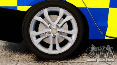 Audi S4 Police [ELS] para GTA 4 vista hacia atrás