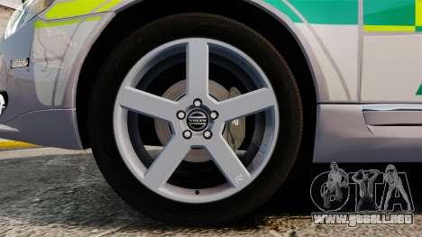 Volvo V70 Ambulance [ELS] para GTA 4 vista hacia atrás