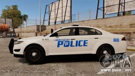 GTA V Vapid Police Interceptor LCPD [ELS] para GTA 4 left