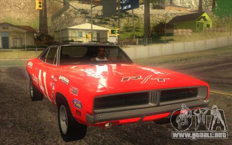 Dodge Charger RT 1969 para la vista superior GTA San Andreas