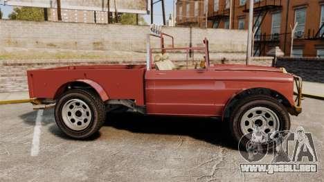 GTA V Canis Bodhi (Trevor Car) para GTA 4 left