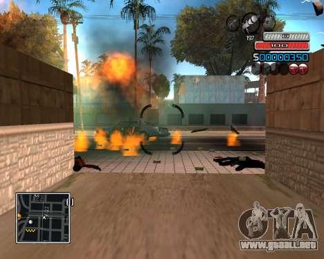 (C) HUD-por Wh_SkyLine para GTA San Andreas tercera pantalla