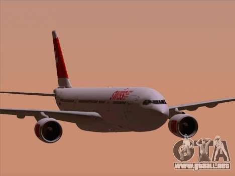 Airbus A330-223 Swiss International Airlines para vista inferior GTA San Andreas