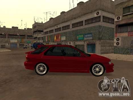 Subaru Impreza Wagon para GTA San Andreas left