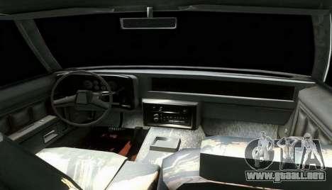 Chevrolet Malibu 1981 para GTA San Andreas vista posterior izquierda