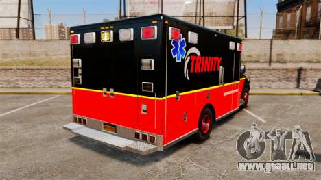 Landstalker L-350 Trinity EMS Ambulance [ELS] para GTA 4 Vista posterior izquierda