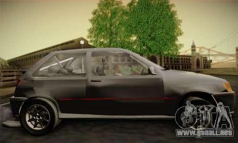 Ford Fiesta Mk3 XR2i para GTA San Andreas vista posterior izquierda
