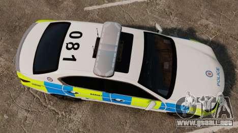 Lexus GS350 West Midlands Police [ELS] para GTA 4 visión correcta