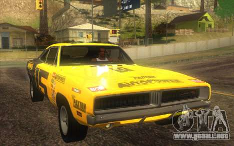 Dodge Charger RT 1969 para vista lateral GTA San Andreas