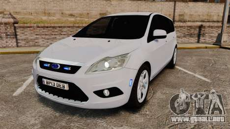 Ford Focus Estate 2009 Unmarked Police [ELS] para GTA 4