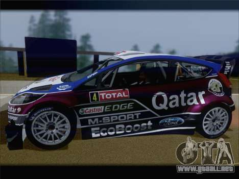 Ford Fiesta RS WRC 2013 para la vista superior GTA San Andreas