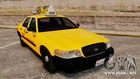 Ford Crown Victoria 1999 SF Yellow Cab para GTA 4