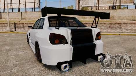 Subaru Impreza v2.0 para GTA 4 Vista posterior izquierda
