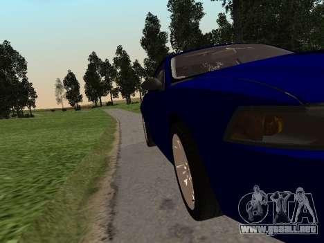 Ford Mustang GT 1999 para GTA San Andreas vista posterior izquierda