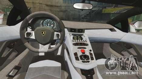 Lamborghini Aventador LP700-4 2012 [EPM] Lamotte para GTA 4 vista interior