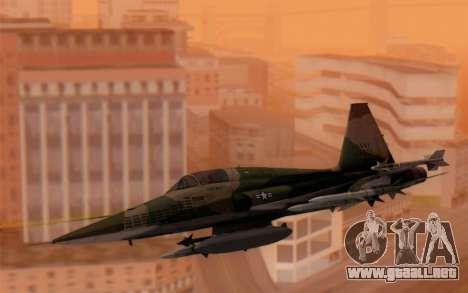 F-5 Tiger II para GTA San Andreas vista posterior izquierda