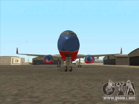 Boeing 737 Southwest Airlines para visión interna GTA San Andreas