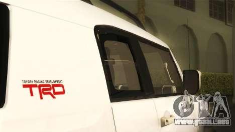 Toyota FJ Cruiser 2012 para la visión correcta GTA San Andreas