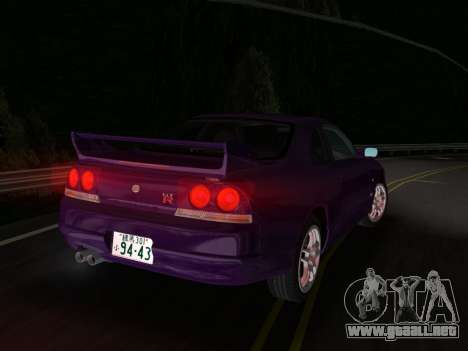 Nissan SKyline GT-R BNR33 para GTA Vice City visión correcta