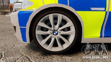 BMW 550i Metropolitan Police [ELS] para GTA 4 vista hacia atrás