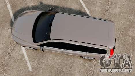 Volvo V70 Unmarked Police [ELS] para GTA 4 visión correcta